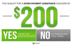 $200 Down Payment Assistance - Green
