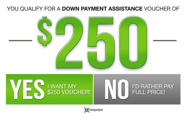 $250 Down Payment Assistance - Green