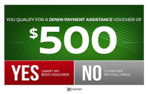 $500 Down Payment Assistance - Dark Green