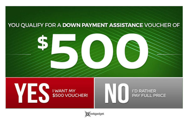 $500 Down Payment Assistance - Dark Green