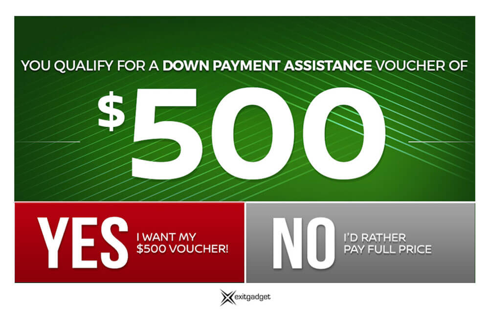 down payment assistance green dark gadget exit