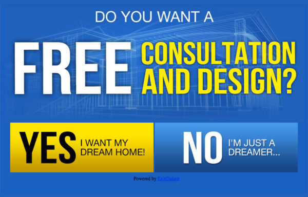 Free Consultation Home Builder - Blue